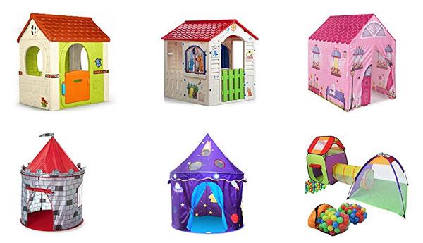 Casa de juegos para jardín y tiendas de campaña infantiles