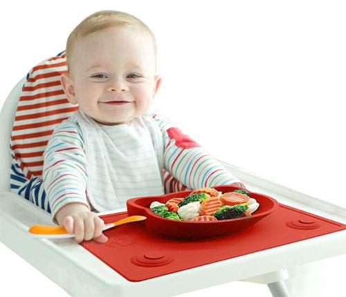 Platos con ventosa, de silicona, antideslizantes... para bebés y niños