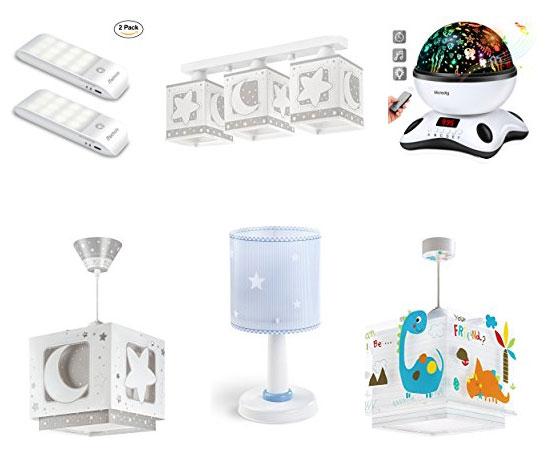 ▷ Luces nocturnas y lámparas para habitación de bebé y niños